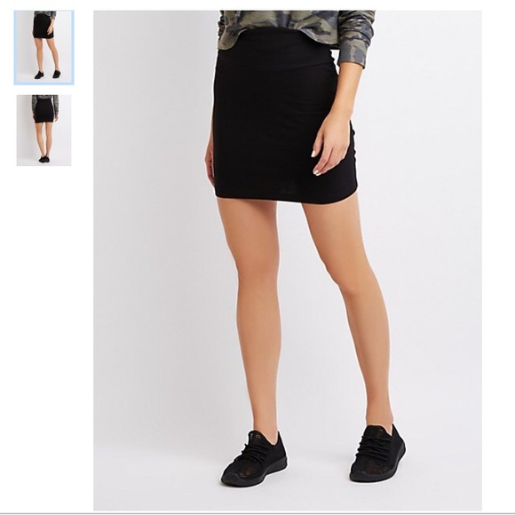 Charlotte Russe Dresses & Skirts - BRAND NEW Black Bodycon Mini Skirt